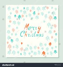 merry christmas greeting card firs hand stock vector 509506720