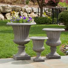 Stone Urn Planter by Garden Adorable Ideas For Decorating Garden And Backyard Areas