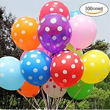 polka dot balloons 100 ct assorted polka dots balloon 12 helium