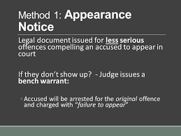 Bench Warrant Procedures Arrest When Police Place Someone Under Arrest They Have To