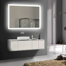 led bathroom wall mirror illuminated lighted vanity mirror with