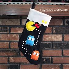 christmas stockings sale for sale pacman video game christmas stocking etsy com shop