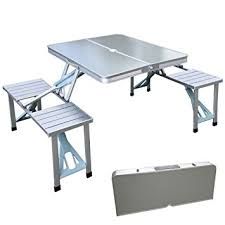 portable folding picnic table xtremepowerus outdoor aluminum portable folding c suitcase