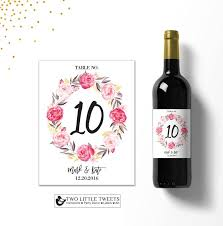 gold wine bottle table numbers 20 best water and wine labels images on pinterest custom water