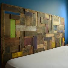 Headboards Made With Pallets Colorful Headboard Made Out Of Recycled Pallets U2022 Recyclart