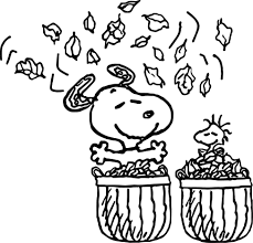 coloring pages amazing autumn coloring pages snoopy autumn
