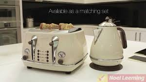 Toasters Delonghi Delonghi Icona Vintage Kettle White Demonstration Youtube