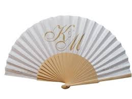 personalized fans for weddings personalised wedding fans fabric and wooden handle