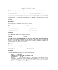 rental contract 10 free pdf word documents download free