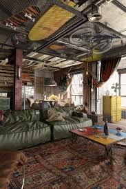 industrial loft design with a strong masculine feel and character
