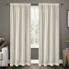 How To Hang A Drapery Scarf by Amazon Com Exclusive Home Curtains Belgian Textured Linen Look