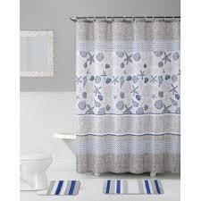 Bath Sets With Shower Curtains 15 Pc Bath Set U2013 Blue Taupe