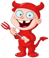 kids halloween devil costumes smiling kid in a devil costume celebrating halloween royalty free