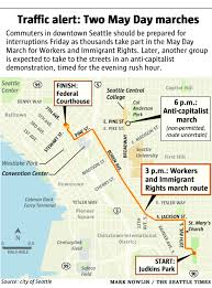 Wsdot Seattle Traffic Map Traffic Alert Brace For May Day Delays Possible Detours The