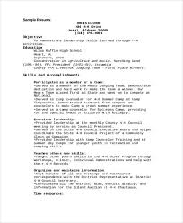 Youth Counselor Resume Sample by 9 Camp Counselor Resume Free Sample Example Format Download