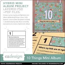 ten things mini album cathy zielske pse ps templates lt919039