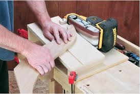 how to build a sanding jig to make your belt sander a benchtop
