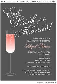 Couple S Shower Invitations Printable Eat Drink And Be Married Happy Hour Champagne Bridal