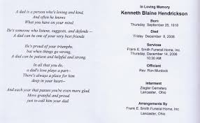 Funeral Ceremony Program Ancestors Of