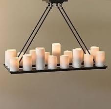 Candle Chandelier Lighting Rectangular Candle Chandelier Foter