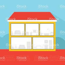 empty house with silhouette rooms stock vector art 529241157 istock