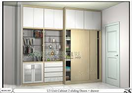 lemari pakaian modern lisz putih