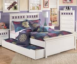 zayley panel bed with trundle full size bedroom furniture beds