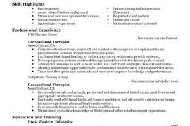 Sample Resume For Occupational Therapist by Occupational Profile Example Occupational Therapy Healthlifesinfo