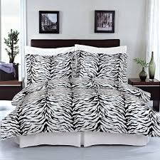 Cotton Queen Duvet Cover Amazon Com Zebra 3 Piece Full Queen Duvet Cover Set 100