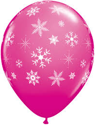 snowflake balloons pink snowflake balloons winter christmas balloons