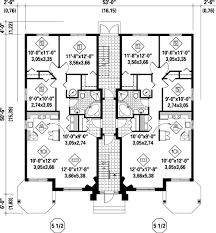 Basic Duplex Floor Plans Multi Family House Plans Duplex Homes Zone