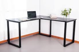 monarch specialties inc hollow core l shaped computer desk desks carey l desk computer desk dark taupe reclaimed look l
