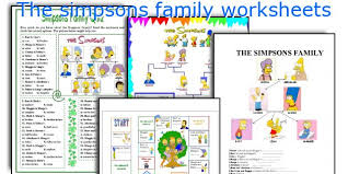 english teaching worksheets the simpsons family