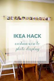 ikea hack curtain wire to photo display red leaf stylered leaf ikea hack curtain wire to photo display redleafstyle com