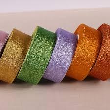 glitter ribbon wholesale aliexpress buy 25yards roll 40mm metallic glitter ribbon