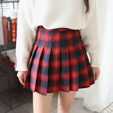 plaid skirt itgirl shop checkered school white plaid pleated skirt