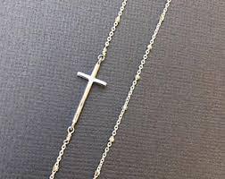silver cross bracelet charm images Cross charm bracelet etsy jpg