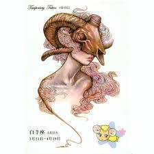 3pcs aries zodiac tattoo stickewall sticker child temporary tattoo