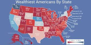 Red State Map by Map Shows Wealthiest Person In Each State