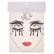 dark witch halloween face tattoos claire u0027s