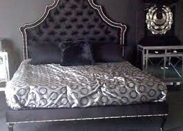 Black Tufted Bed Frame Various Velvet Tufted Bed Frame Of King Wingback Upholstered