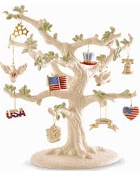 deal alert patriotic 11 ornament tree set by lenox