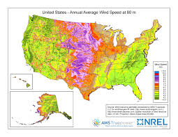 Large Map Of United States by Wind Maps Geospatial Data Science Nrel