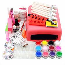 coscelia 36w pink nail lamp uv gel nail font b kit b font 12 color uv jpg