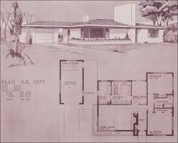 Mid Century Modern Ranch House Plans Design No 1075 By Home Building Plan Service 1948 Mid Century