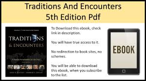 traditions and encounters volume 1 5th edition