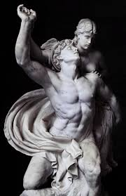 marble statue in berlin of the ancient greek god hermes roman