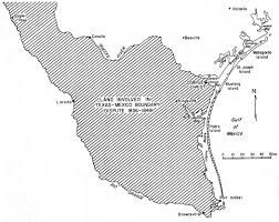 Texas Mexico Border Map by Texas Bureau Of Economic Geology Padre Island National Seashore