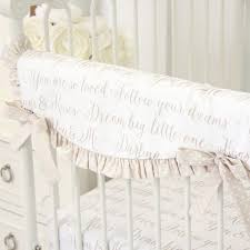 White Nursery Bedding Sets by Love Letters Taupe White Crib Bedding Set By Caden Lane