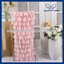 Ruffled Chair Covers Ch029c Sale New 2017 Layered Ruffled Wedding Light Pink Chair